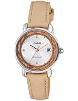 Casio Enticer Analog White Dial Women's Watch  - LTP-E120L-7A1DF (A1042)