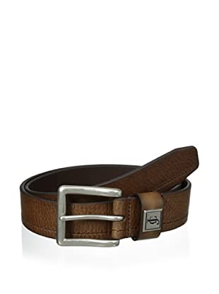 J.Campbell Los Angeles Men's Single Stitched Belt (Brown)