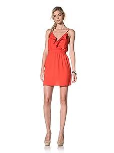 Luna  Women's Olivia Ruffle Dress (Red)