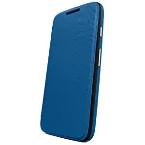 Motorola Flip Shell for Moto G - Retail Packaging - Royal Blue (1st Generation Only)