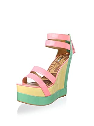 Matiko Women's Echo Wedge Sandal (Pink/Mint)