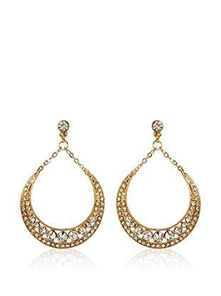 Amrita Singh Pendientes Crescent Metallic