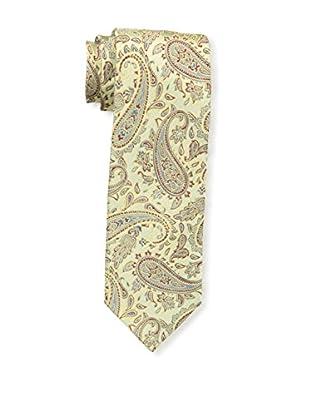 Bruno Piattelli Men's Paisley Silk Tie, Gold