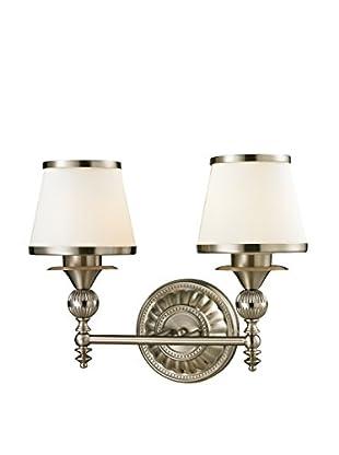 Artistic Lighting Smithfield 2-Light LED Sconce, Brushed Nickel
