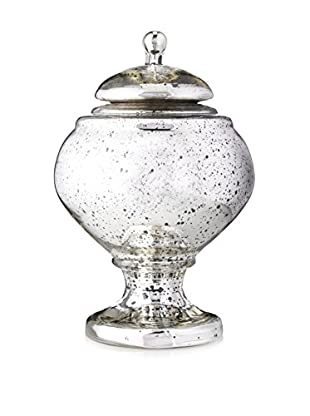 Go Home Mercury Glass Covered Jar