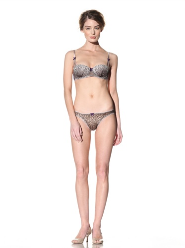 Mimi Holliday Women's Petit Gateau Bow Back Thong (Winter Leopard)