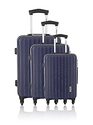 Travel ONE Set de 3 trolleys rígidos Lowe Azul