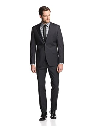 Simon Spurr Men's Striped 2-Button Suit (Grey)