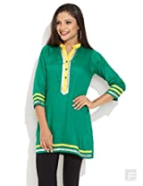 Ever Chic Kurti-Green-L