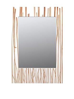 Alexandra House Wandspiegel blanco y marrón