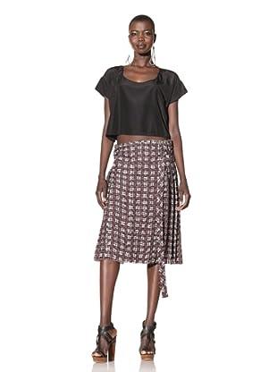ALTUZARRA Women's Wrap Skirt with Attached Belt (Argyle Print)