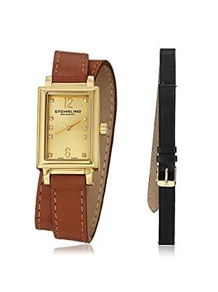 Stührling Women's 810.SET.02 Interchangeable Audrey Paris Yellow Gold-Plated Watch