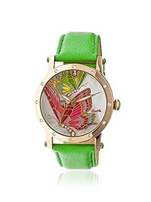 Bertha Women's BR4305 Isabella Green/Multi Leather Watch
