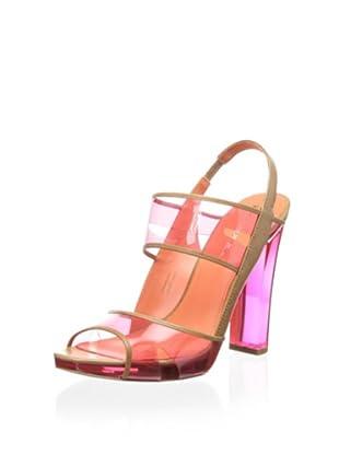 Via Spiga Women's V-Clair Sandal (Hot Pink/Camel)