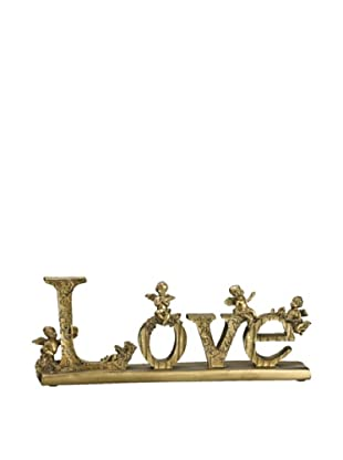 Love Stand, Gold/ Antique