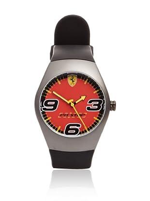 Ferrari Reloj de Pvd Pitstop Dial (Negro /Rojo)