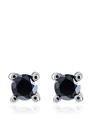 Divas Diamond Pendientes Black Diamond Plata