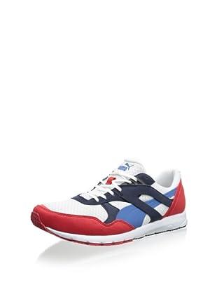 PUMA Men's Future R698 Lite Sneaker (White/High Risk Red)