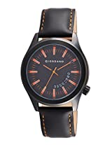 Giordano Analog Black Dial Men's Watch - 1671-03