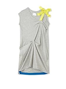kicokids Girl's Asymmetric Jersey Dress (Grey)