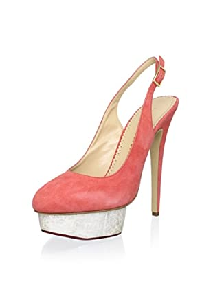 Charlotte Olympia Women's Dolly Slingback (Coral)