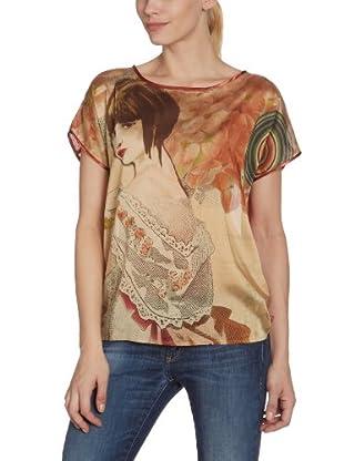 Desigual Camiseta, 27B2L00 (Beige)