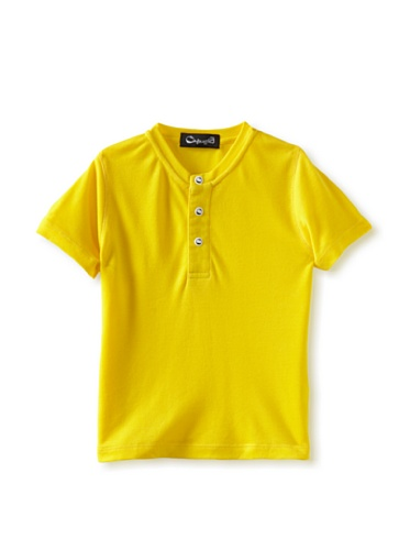 A for Apple Kids Candy Henley Tee (Yellow)