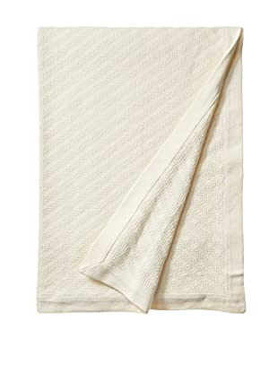 Peacock Alley Tricot Blanket (Ivory)