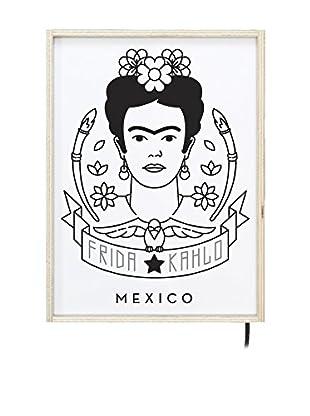 ReallyNiceThings Panel Decorativo Luminoso Frida Kahlo Mexico 40x30