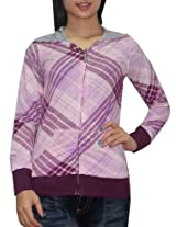 DC Womens Surf & Skate Reversible Hoodie Sweatshirt Jacket - Purple & Blue (Size: XS)