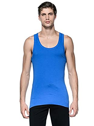 Versace Camiseta Tirantes (Azul Eléctrico)