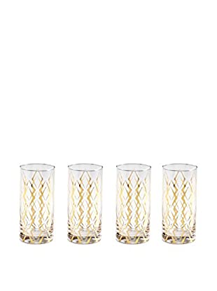 Rosanna Set of 4 La Cite 14-Oz. Highball Glasses
