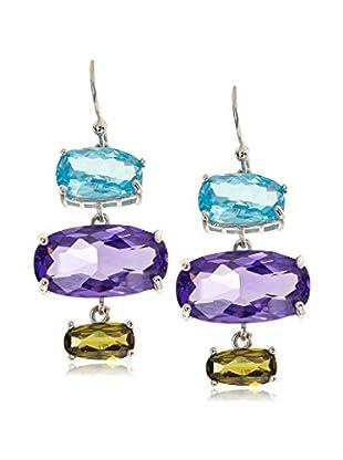 CZ by Kenneth Jay Lane Organic Shape CZ Dangle Earrings