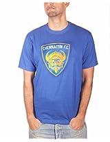 THE FAN STORE Chennaiyin FC Blue Round Neck T-Shirt - XL