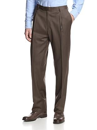 Hart Schaffner Marx Men's Checked Trouser (Brown)