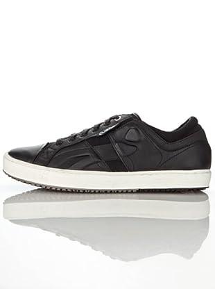 Cushe - Zapatillas de deporte de cuero para hombre (Negro)
