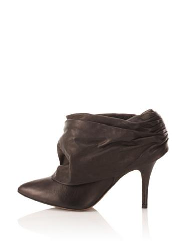 Pura Lopez Women's Ruched Bootie (Black)