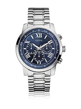 Guess Uhr mit japanischem Mechanikuhrwerk Man Horizon Silver Tone silberfarben 45 mm