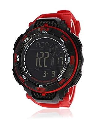 Pit Lane Uhr mit Miyota Uhrwerk Pl-2003-4 rot 50 mm