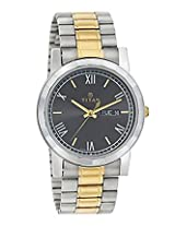 Titan Golden Stainless Steel Men Watch 1644BM02