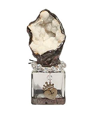 Theresa Seidel Quartz Geode Glass Jar, White/Clear
