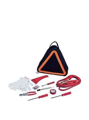 Picnic Time Roadside Emergency Kit, Black Orange