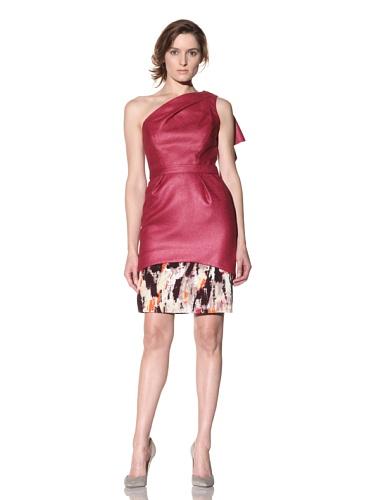 Bibhu Mohapatra Women's One-Shoulder Dress (Fuchsia)