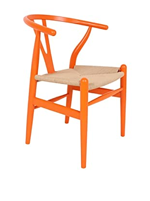 Control Brand The Wishbone Chair, Orange/Yellow Strings