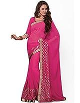 Pink Embellished Saree Aum