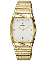 Titan Karishma Analog White Dial Men's Watch - NE9315YM01A