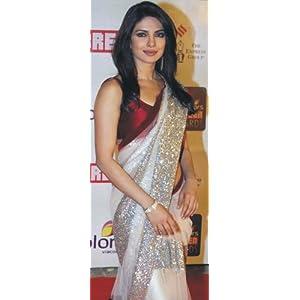 "Priyanka Chopra Nett Saree â€"" LMMSUBR79"