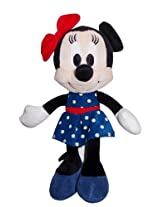 Disney Minnie in Blue Color Dotted Dress, Blue/Black (8-inch)