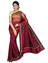 Korni Cotton Silk Banarasi Saree SSS-383- Maroon KR0452