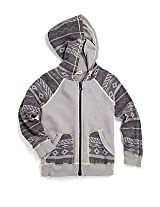 Splendid Little Boys' Fairisle Thermal Hood Zip-up - Shadow - 5/6